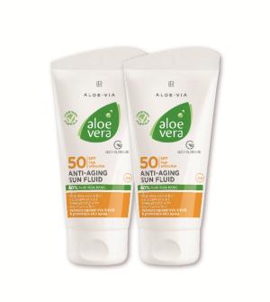 LR Aloe Vera Sun Anti-aging fluid LSF 50 Série 2 ks - 2x 50 ml
